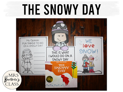The Snowy Day winter book study literacy unit with Common Core aligned companion activities and a craftivity for K-1
