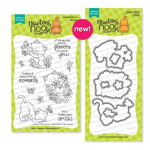 Newton's Flower Garden | Stamp Set and coordinating Die Set by Newton's Nook Designs #newtonsnook