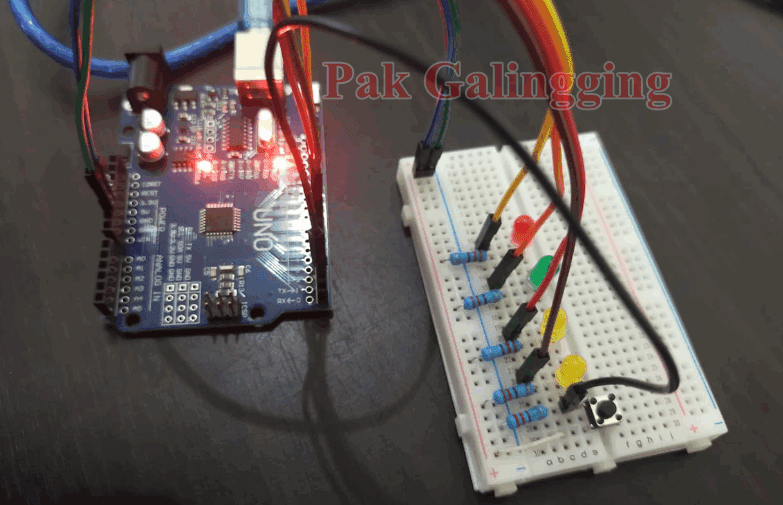 Menyalakan 4 LED dengan 1 Push Button Langkah Mudah Belajar Arduino