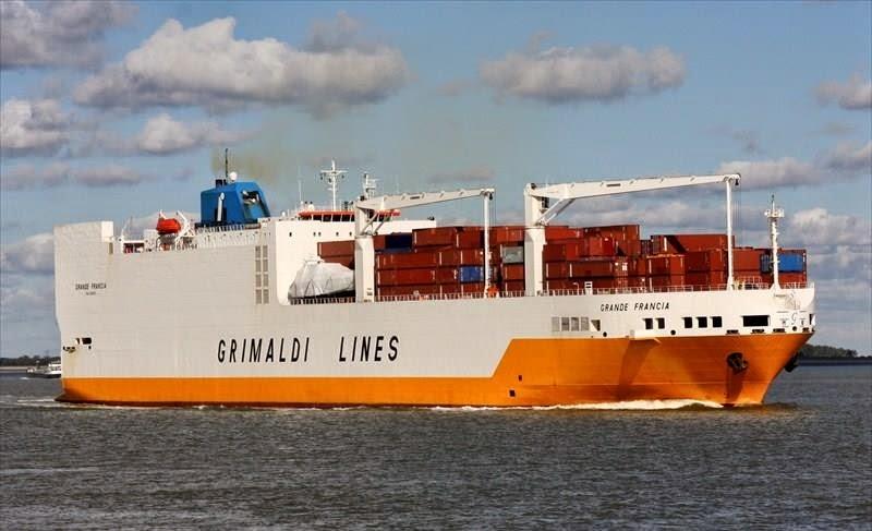 Livetracking vom Containerschiff via Satellit und Marinetraffic