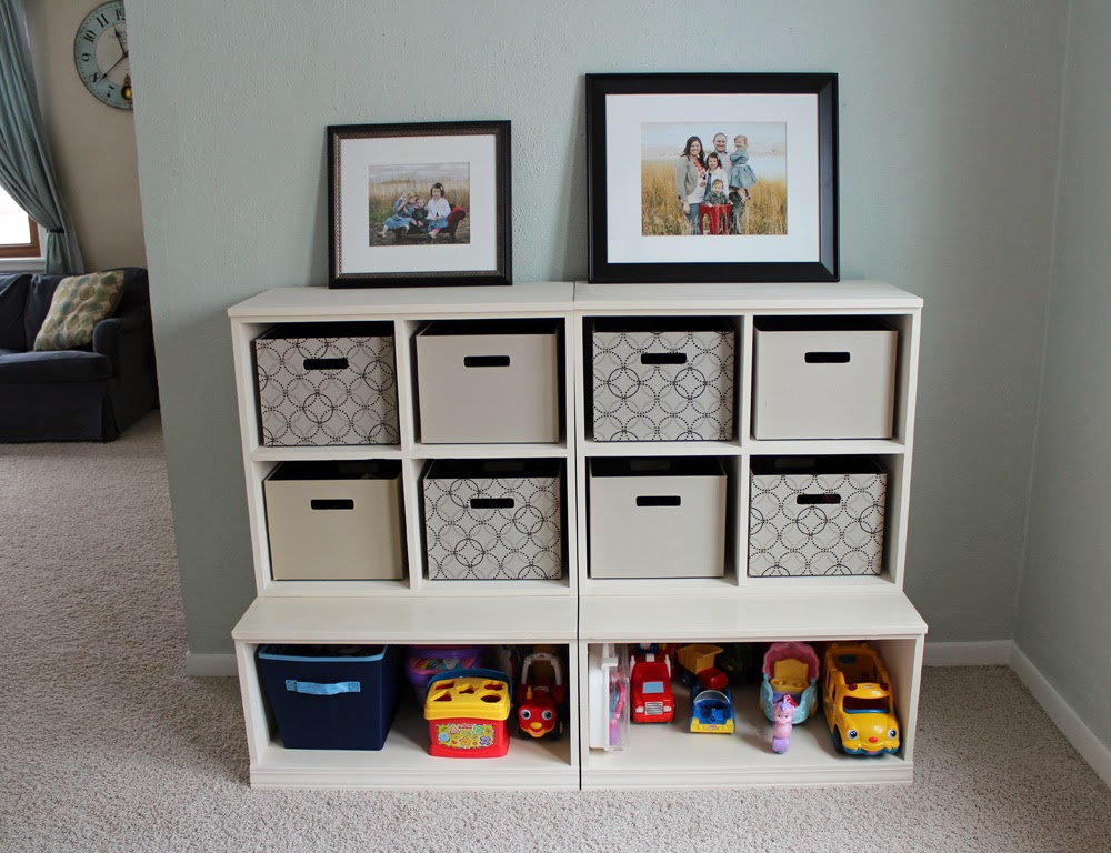 Our Blessed Nest: kids' cubby storage