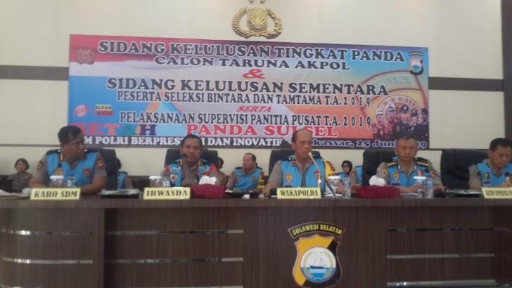 Wakapolda Sulsel, Pimpin Sidang Kelulusan Terpilih Catar (i) Akpol dan Kelulusan Sementara Casis Bintara TA 2019