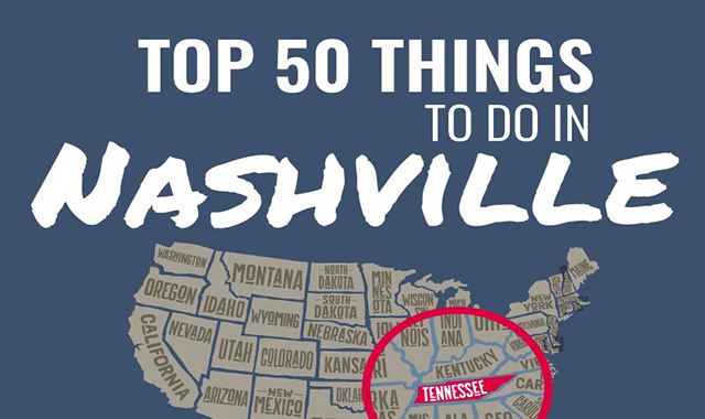 Top 50 Things to Do in Nashville #infographic