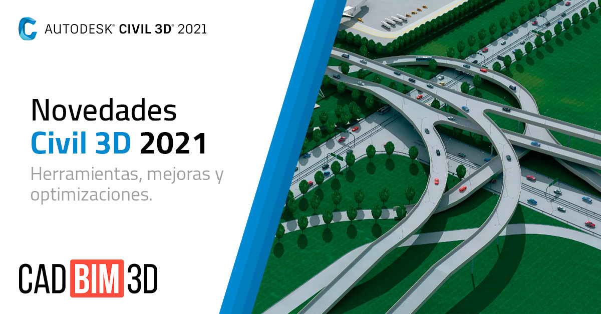 Novedades de Autodesk Civil 3D 2021