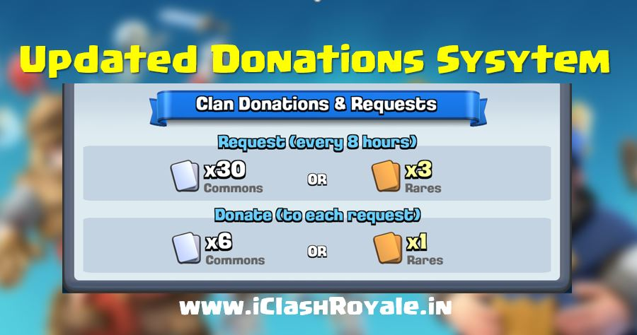 Donate more cards on Clash Royale