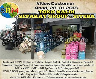 Pemasangan Pada TOKO NALDI di SIteba - Padang