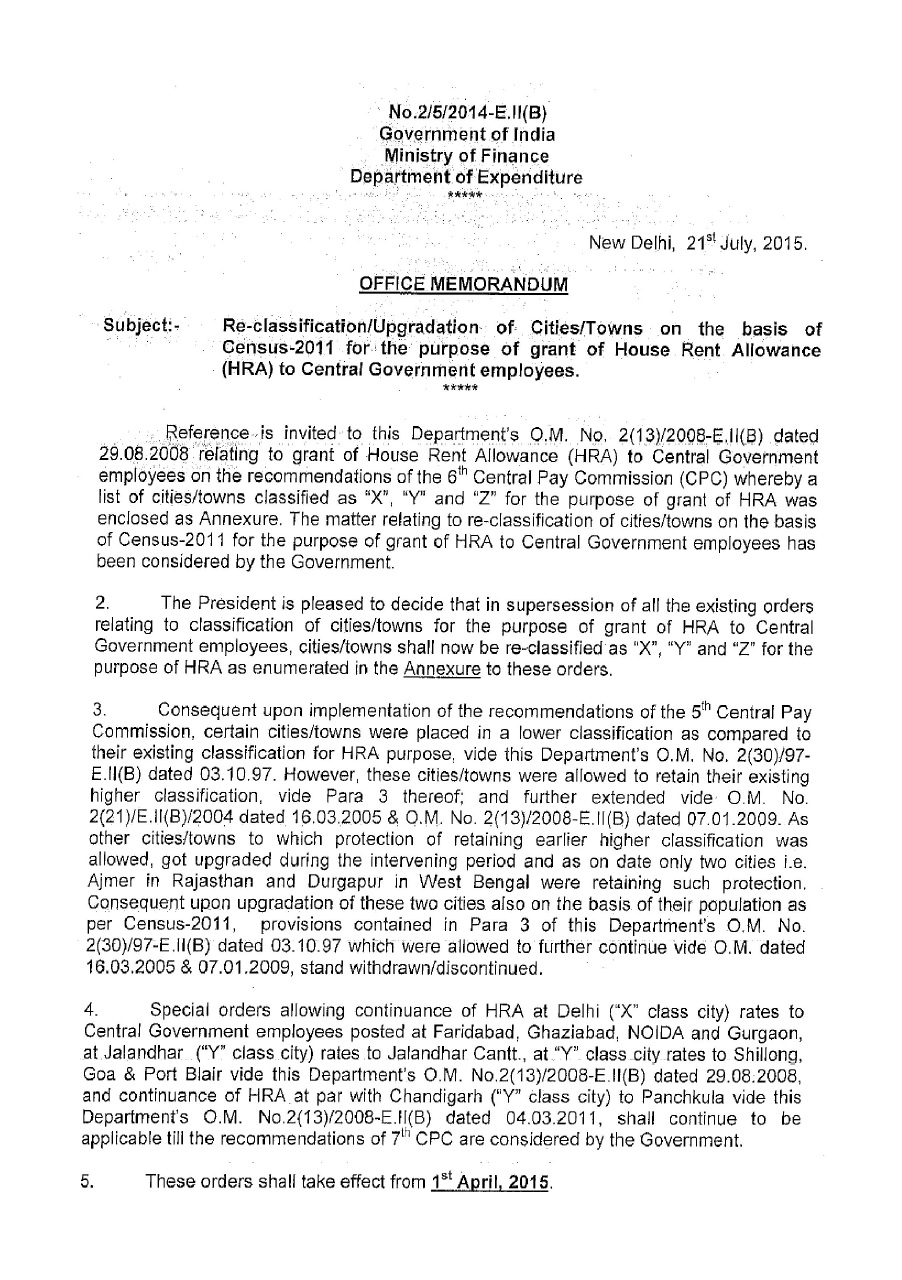 hra government order