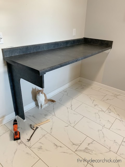 Folding table no cabinets