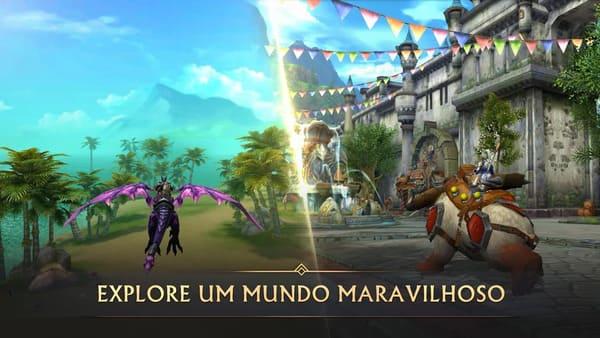 Era of Legends. Mundo da magia de dragão no MMORPG. Jogo de rpg para android