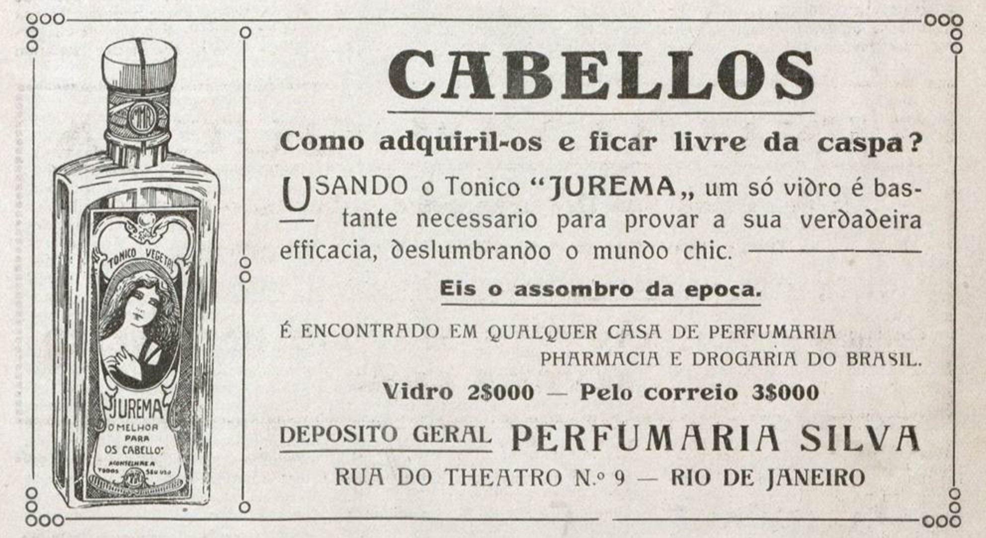 Propaganda antiga do Tônico Jurema veiculada em 1919