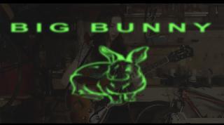 Alaska Reid Visuals that say Bad Bunny with a rabbit illustration