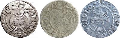 Półtoraki z 1625 - Bydgoszcz - z pochyloną, leżącą i odwróconą 5 w dacie