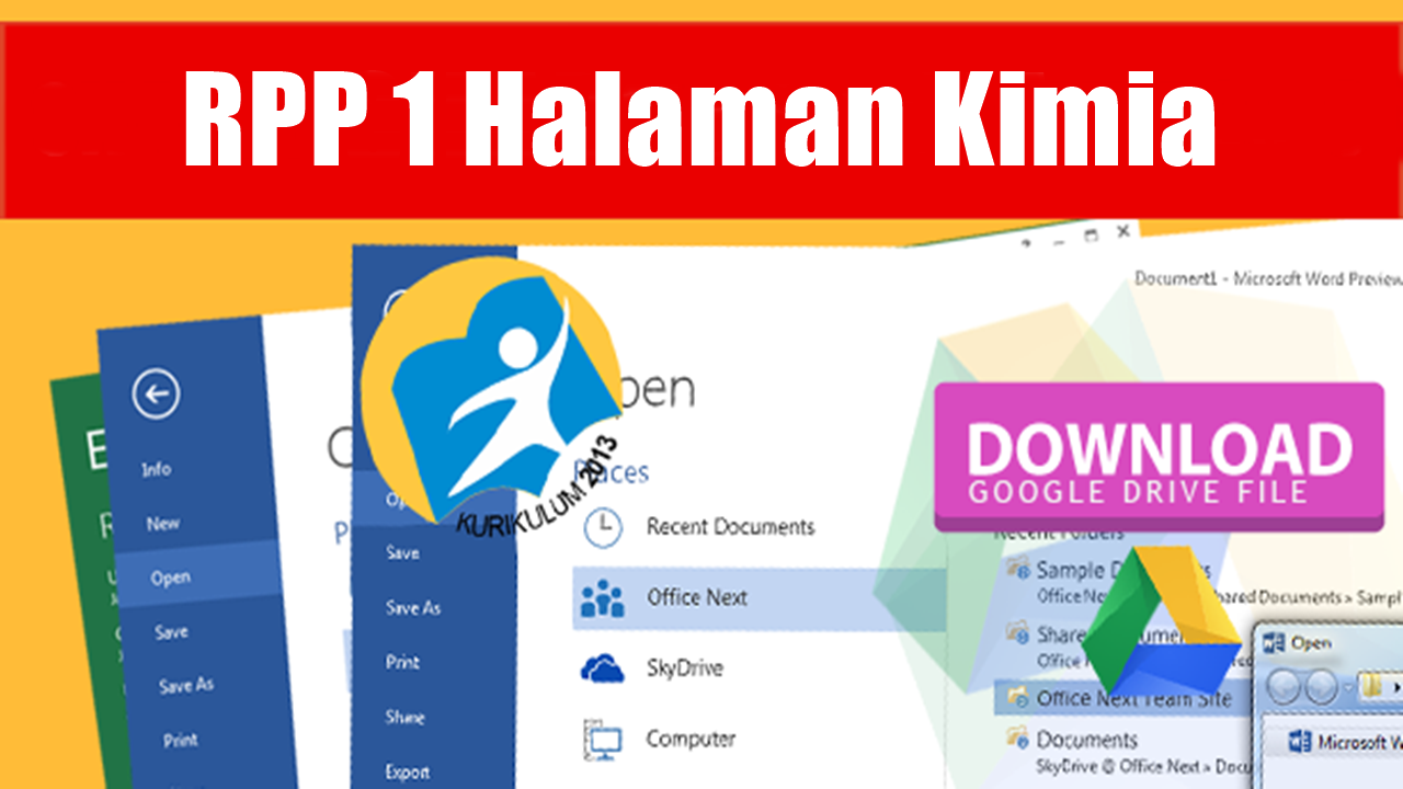 [Lengkap] File RPP 1 Halaman Kimia K13 Revisi Terbaru Kelas X, XI, XII