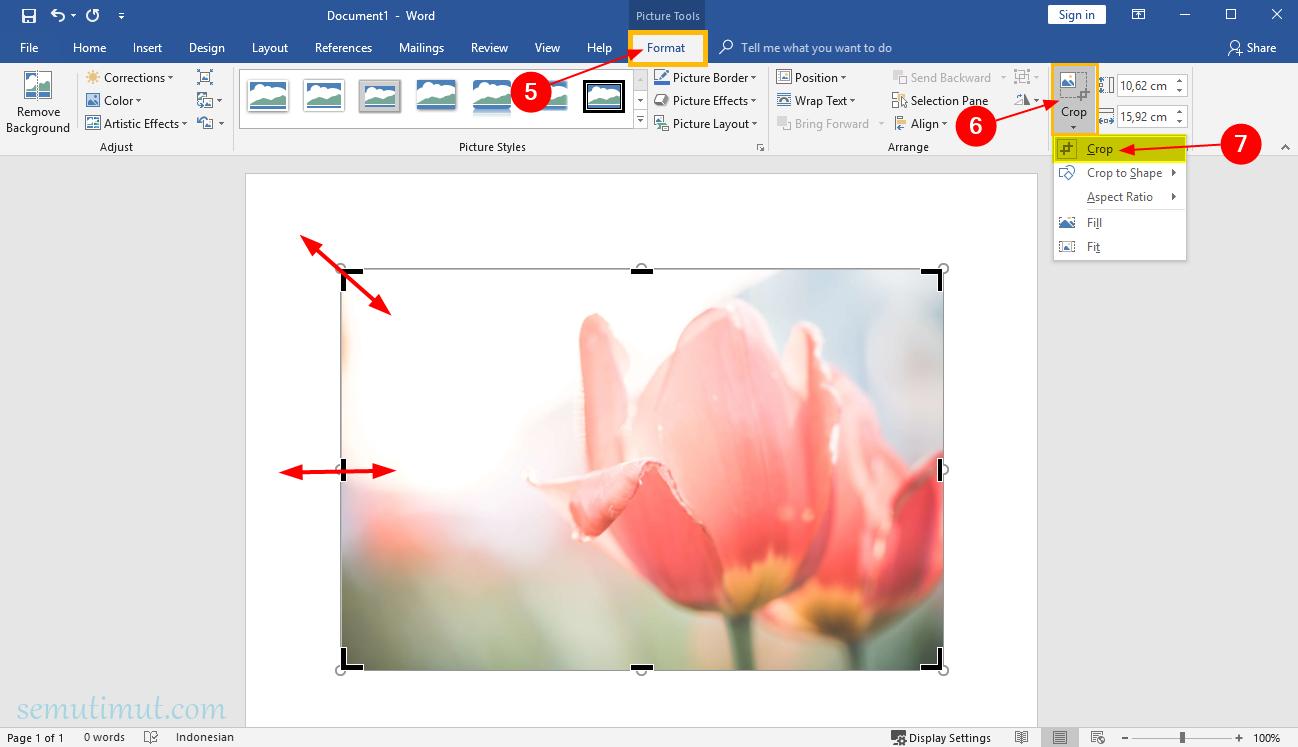 Cara Memotong Gambar Di Word Crop To Shape Lengkap Semutimut Tutorial Hp Dan Komputer Terbaik