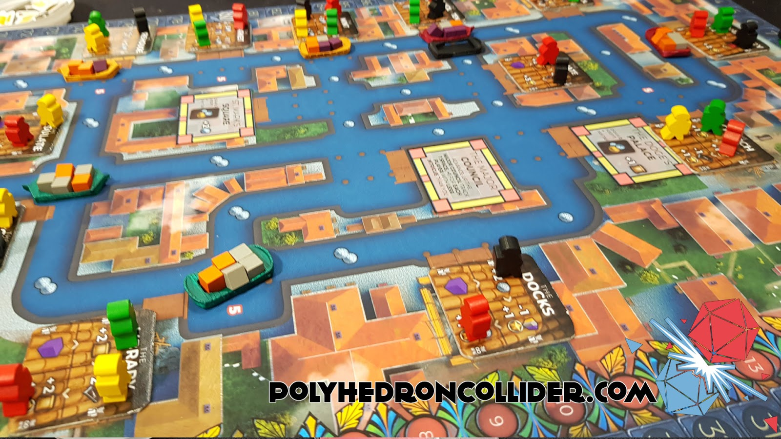 Kickstarter Highlight Venice Board Game in play 4 at UK Games Expo