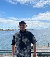 Scott Blain standing on a pier