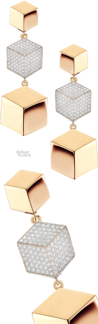 Brilliant Luxury♦Paolo Costagli 18ct Rose Gold and Diamond Brillante® Drop Earrings