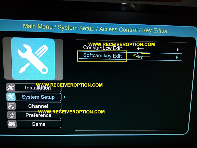 HOW TO ADD POWERVU KEY IN ACCESS CONTROL HD RECEIVERS