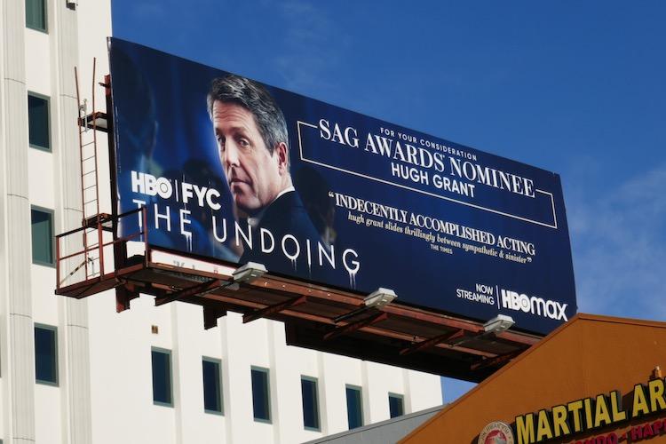 Hugh Grant Undoing SAG nominee billboard