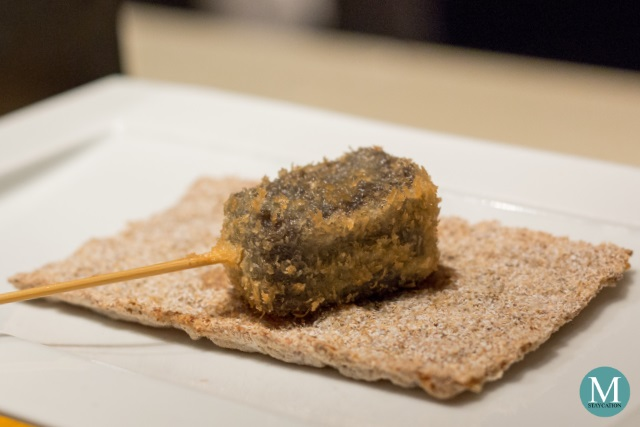 Black Sesame Kuzu Tofu Kushiage
