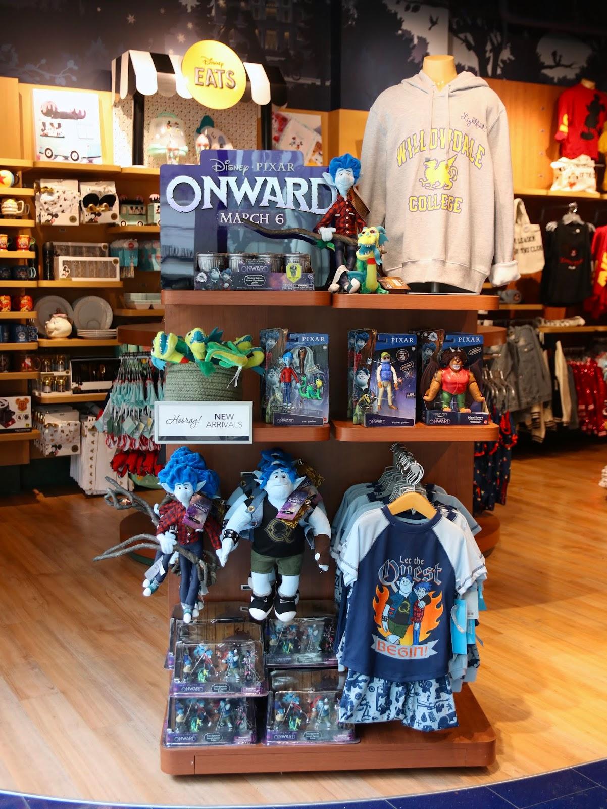 pixar onward the disney store merchandise toys release 2020