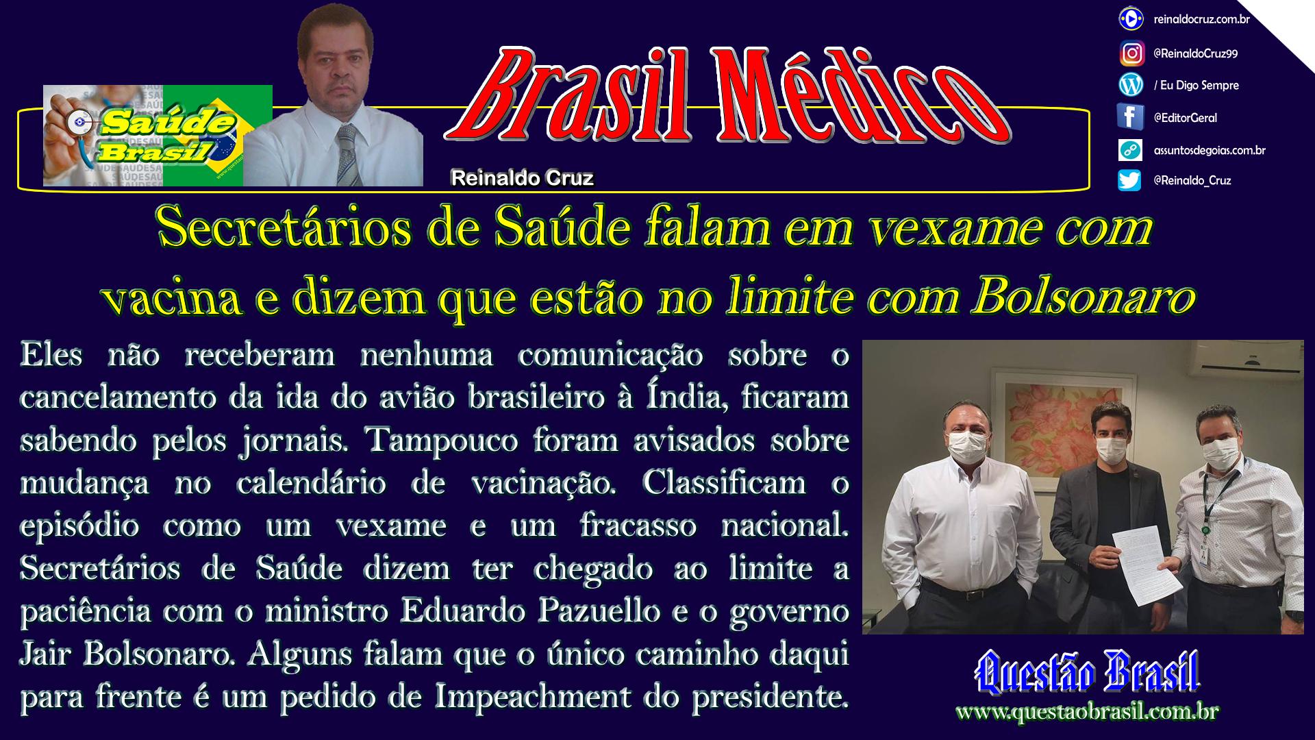 Secretários e Governadores rechaçaram o protagonismo de João Doria no episódio das vacinas, se colocaram ao lado de Bolsonaro e Pazuello, mas agora está difícil esconder a decepção com a inércia do governo federal.