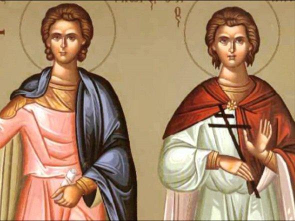 Οι Άγιοι Μάρτυρες Φώτιος και Ανίκητος