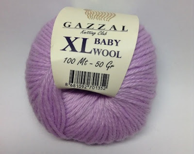 Пряжа Gazzal baby wool XL 823 светлая сирень