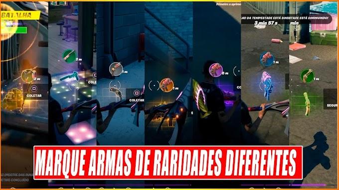 Fortnite: como marcar armas de raridade diferente