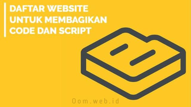 Website untuk Membagikan Code dan Script