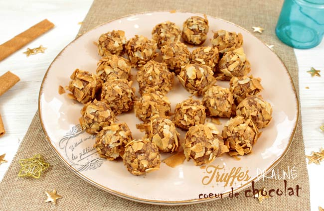 recette truffes praliné noel