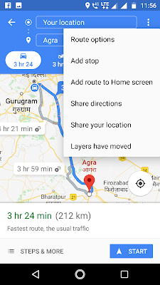 Add stop google maps