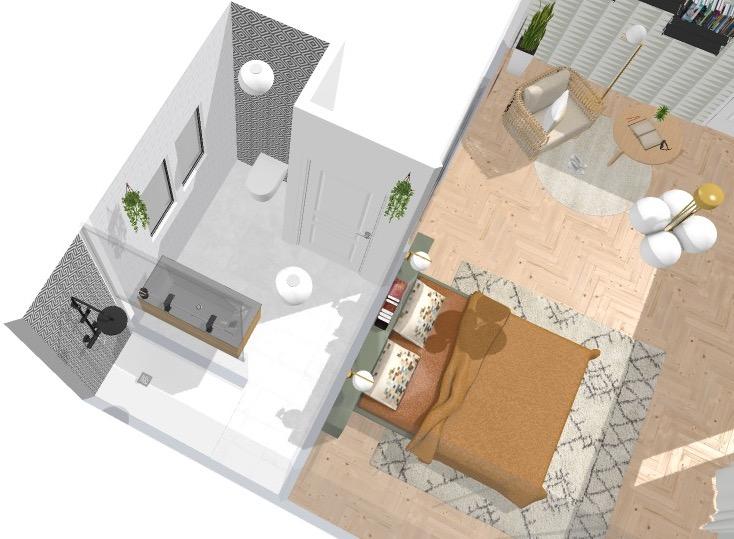 ilaria fatone_home by me_vue d'ensemble salle de bains et chambre