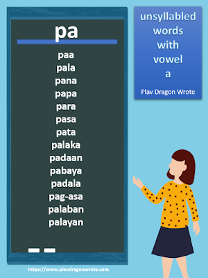 Unsyllabled Words with the Small Vowel Letter a - Effective Reading Guide for Kids