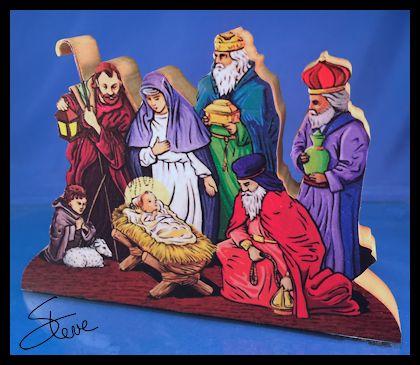 Scrollsaw workshop nativity cut out scroll saw pattern for Nativity cut out patterns wood