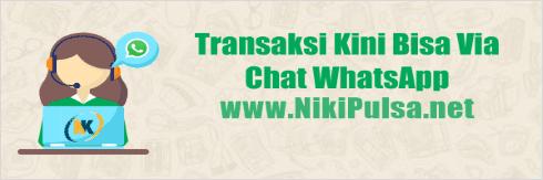 Cara Transaksi Bisnis Jualan Pulsa via WhatsApp Niki Reload Server Pulsa Elektrik Online Termurah Jakarta Bandung Semarang Surabaya