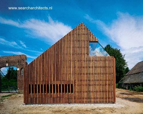 Casa vanguardista de madera y vidrio en Holanda
