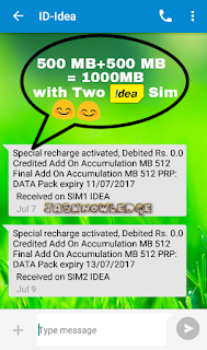 How To Get 500 MB data In Idea Hindi mai