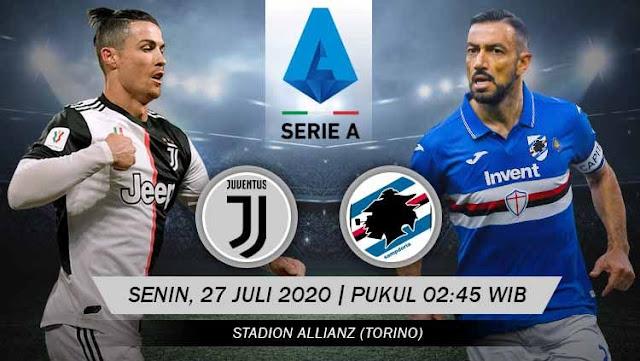 Prediksi Juventus Vs Sampdoria, Senin 27 Juli 2020 Pukul 02.45 WIB @ RCTI