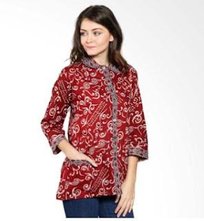 Contoh Baju Batik Formal Wanita
