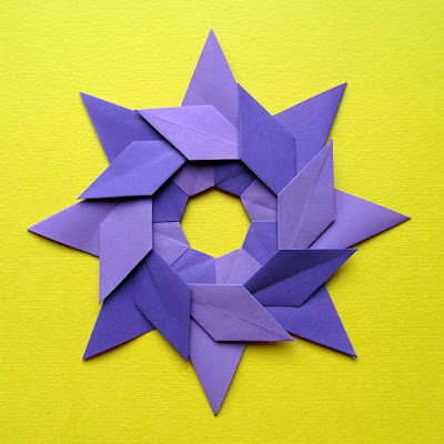 Origami, Stella ghirlanda – Star garland by Francesco Guarnieri