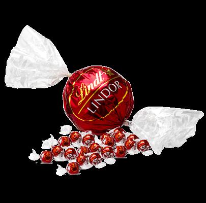 A Lindt Maxi Ball alongside regular Lindt Balls