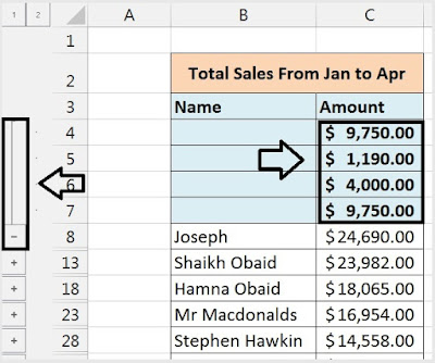 Consolidate Data From Multiple Worksheet to Single Worksheet in Excel