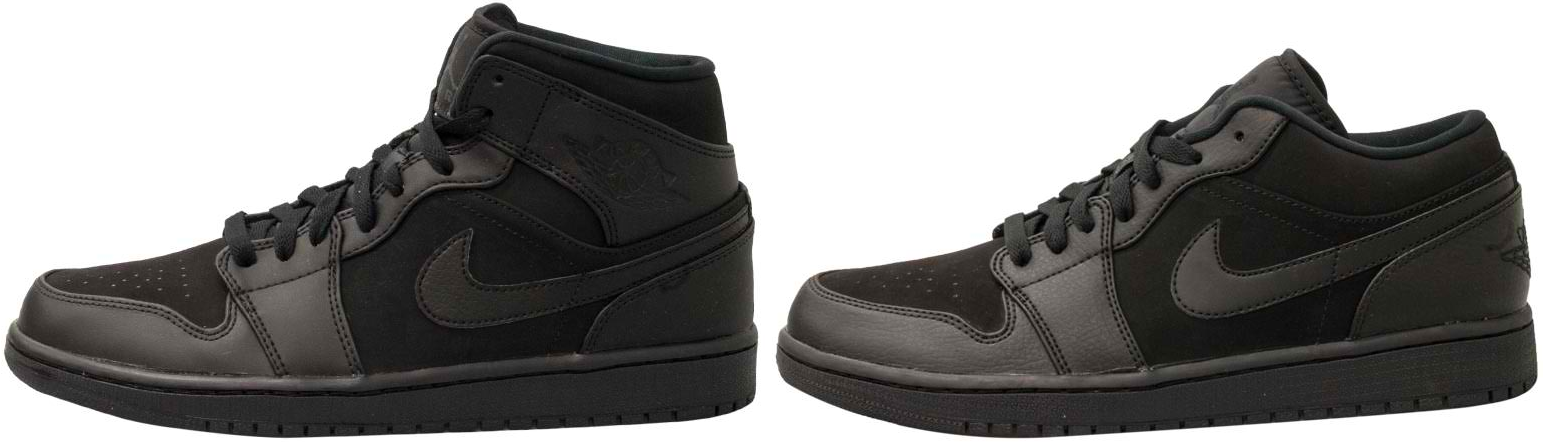 Or make that two since the Air Jordan 1 all-black comes in low and mid-top  versions. The low-top sells for Php 5 e033ce03c