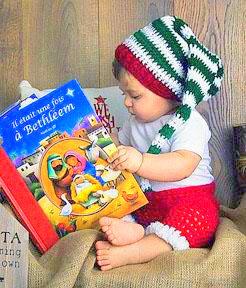 Christmas baby elf hat Crochet pattern