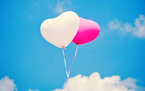 Balon Love Warna Warni