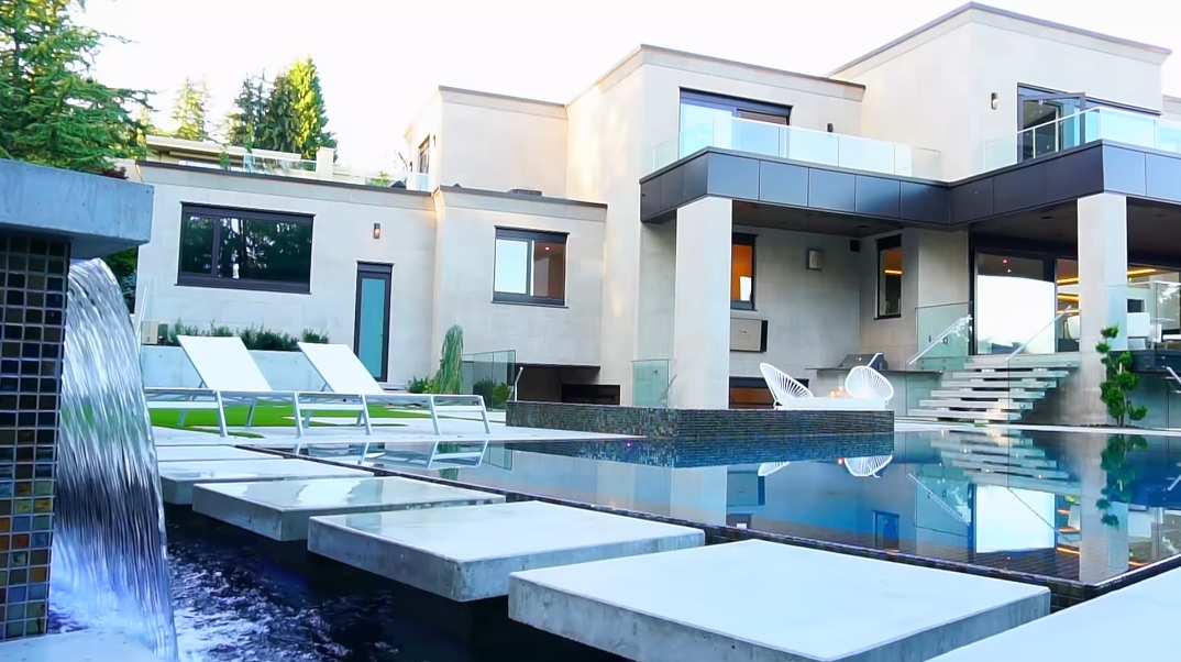 58 Interior Design Photos vs. 1050 King Georges Way, West Vancouver, BC Ultra Luxury Modern Mansion Tour