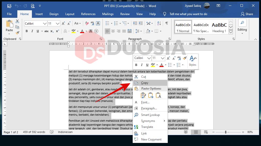 cara meringkas dokumen otomatis di windows