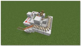 Minecraft トロッコ輸送 積み込み駅 作り方⑤
