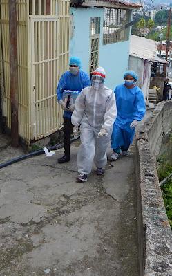 Realizan búsqueda activa comunitaria de casos Covid-19 en Los Teques